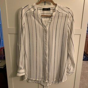 Black & white striped blouse
